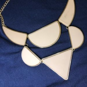 Chunky tan statement necklace
